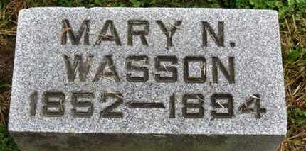 WASSON, MARY N. - Marion County, Ohio | MARY N. WASSON - Ohio Gravestone Photos