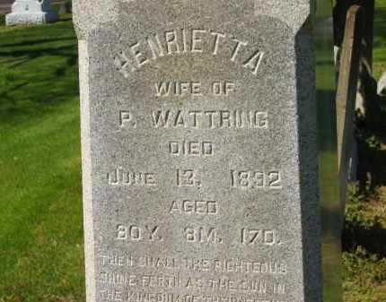 WATTRING, P. - Marion County, Ohio | P. WATTRING - Ohio Gravestone Photos