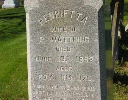 WATTRING, HENRIETTA - Marion County, Ohio | HENRIETTA WATTRING - Ohio Gravestone Photos