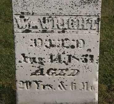 WRIGHT, WM. - Marion County, Ohio | WM. WRIGHT - Ohio Gravestone Photos