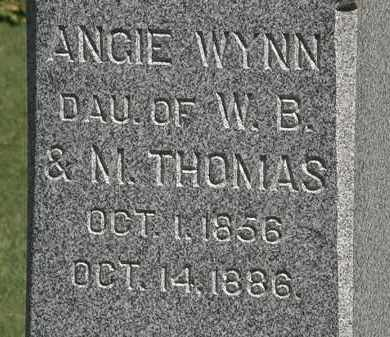 WYNN, ANGIE - Marion County, Ohio | ANGIE WYNN - Ohio Gravestone Photos
