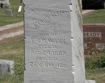 WYNN, BENJAMIN ALBERT - Marion County, Ohio | BENJAMIN ALBERT WYNN - Ohio Gravestone Photos