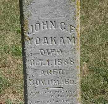 YOAKAM, JOHN C. F. - Marion County, Ohio | JOHN C. F. YOAKAM - Ohio Gravestone Photos