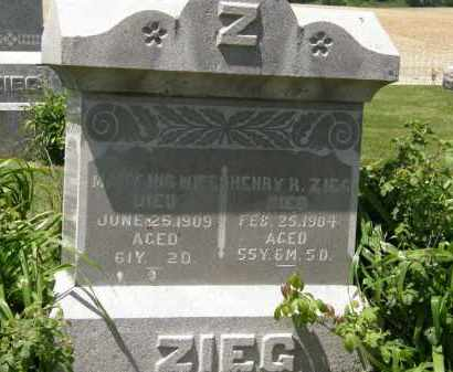 ZIEG, MARY - Marion County, Ohio | MARY ZIEG - Ohio Gravestone Photos