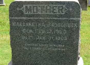 BADSCHUSK, MARGARETHA - Medina County, Ohio | MARGARETHA BADSCHUSK - Ohio Gravestone Photos