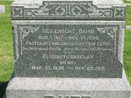 BARCLAY BAIRD, ELIZABETH - Medina County, Ohio | ELIZABETH BARCLAY BAIRD - Ohio Gravestone Photos