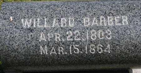 BARBER, WILLARD - Medina County, Ohio | WILLARD BARBER - Ohio Gravestone Photos