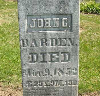 BARDEN, JOHN C. - Medina County, Ohio | JOHN C. BARDEN - Ohio Gravestone Photos