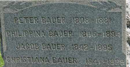 BAUER, PETER - Medina County, Ohio | PETER BAUER - Ohio Gravestone Photos