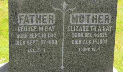 BAY, GEORGE M. - Medina County, Ohio | GEORGE M. BAY - Ohio Gravestone Photos