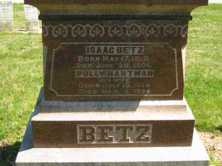 BETZ, POLLY - Medina County, Ohio | POLLY BETZ - Ohio Gravestone Photos