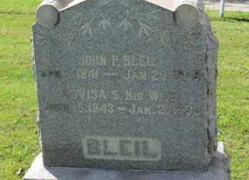 BLEIL, JOHN F. - Medina County, Ohio | JOHN F. BLEIL - Ohio Gravestone Photos