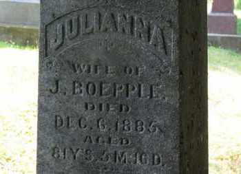 BOEPPLE, JULIANNA - Medina County, Ohio | JULIANNA BOEPPLE - Ohio Gravestone Photos