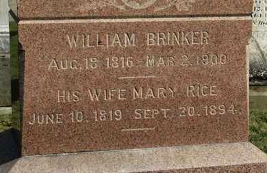 RICE BRINKER, MARY - Medina County, Ohio | MARY RICE BRINKER - Ohio Gravestone Photos