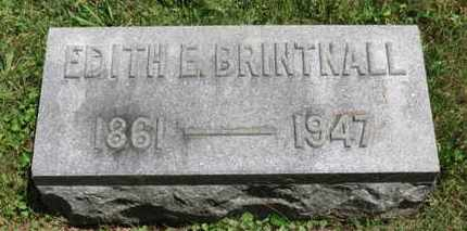 BRINTNALL, EDIT E. - Medina County, Ohio | EDIT E. BRINTNALL - Ohio Gravestone Photos