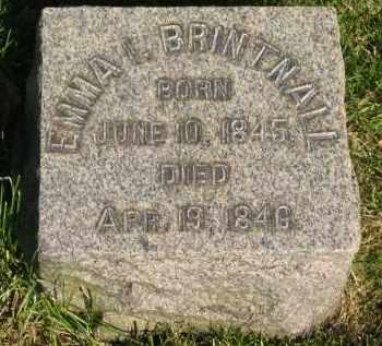BRINTNALL, EMMA I. - Medina County, Ohio | EMMA I. BRINTNALL - Ohio Gravestone Photos