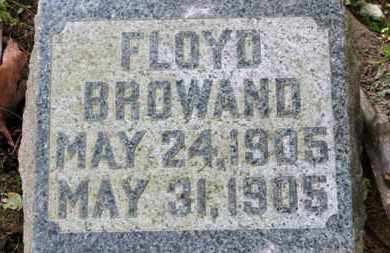 BROWAND, FLOYD - Medina County, Ohio | FLOYD BROWAND - Ohio Gravestone Photos