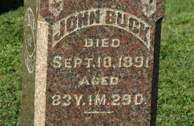 BUCK, JOHN - Medina County, Ohio | JOHN BUCK - Ohio Gravestone Photos