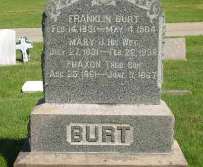 BURT, MARY J. - Medina County, Ohio | MARY J. BURT - Ohio Gravestone Photos