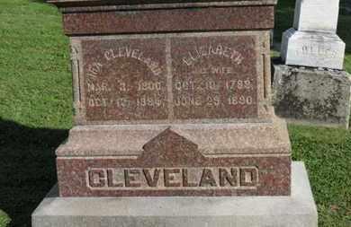 CLEVELAND, ELIZABETH - Medina County, Ohio | ELIZABETH CLEVELAND - Ohio Gravestone Photos