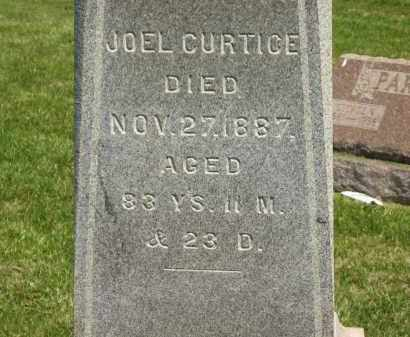 CURTICE, JOEL - Medina County, Ohio | JOEL CURTICE - Ohio Gravestone Photos