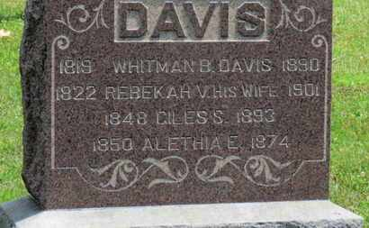 DAVIS, REBEKAH - Medina County, Ohio | REBEKAH DAVIS - Ohio Gravestone Photos