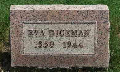 DICKMAN, EVA - Medina County, Ohio | EVA DICKMAN - Ohio Gravestone Photos