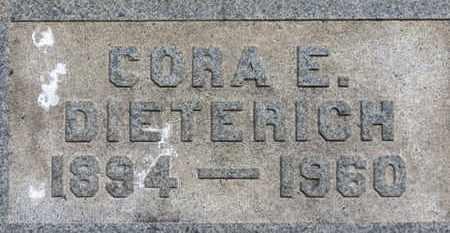DIETERICH, CORA E. - Medina County, Ohio | CORA E. DIETERICH - Ohio Gravestone Photos