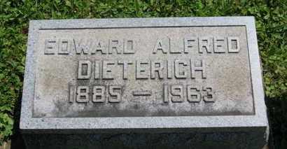 DIETERICH, EDWARD ALFRED - Medina County, Ohio | EDWARD ALFRED DIETERICH - Ohio Gravestone Photos