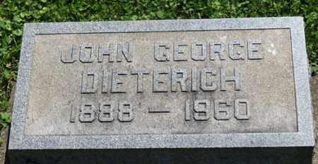 DIETERICH, JOHN GEOGE - Medina County, Ohio | JOHN GEOGE DIETERICH - Ohio Gravestone Photos