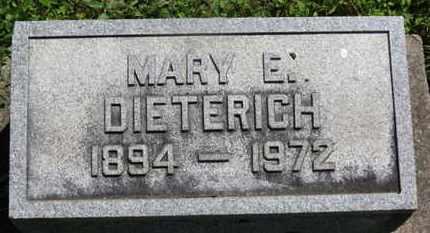 DIETERICH, MARY E. - Medina County, Ohio | MARY E. DIETERICH - Ohio Gravestone Photos