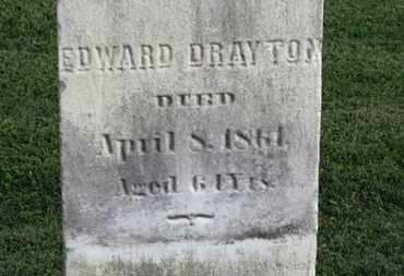 DRAYTON, EDWARD - Medina County, Ohio | EDWARD DRAYTON - Ohio Gravestone Photos