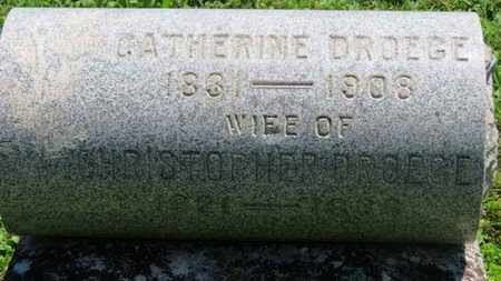 DROEGE, CATHERINE - Medina County, Ohio | CATHERINE DROEGE - Ohio Gravestone Photos