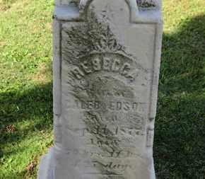 EDSON, REBECCA - Medina County, Ohio | REBECCA EDSON - Ohio Gravestone Photos