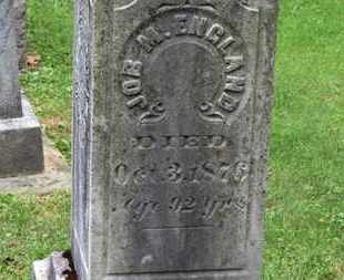 ENGLAND, JOB M. - Medina County, Ohio | JOB M. ENGLAND - Ohio Gravestone Photos