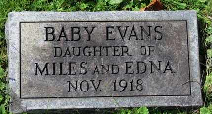 EVANS, BABY DAUGHTER - Medina County, Ohio | BABY DAUGHTER EVANS - Ohio Gravestone Photos