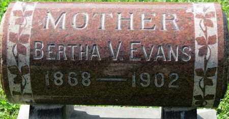 EVANS, BERTHA V. - Medina County, Ohio | BERTHA V. EVANS - Ohio Gravestone Photos