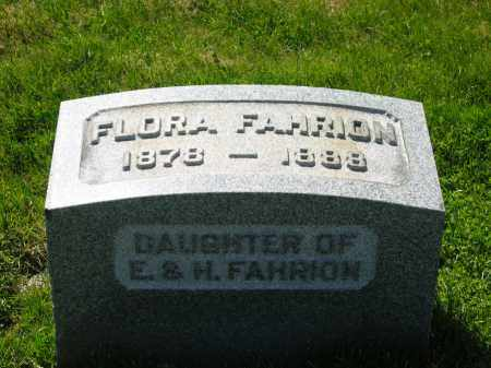 FAHRION, FLORA - Medina County, Ohio | FLORA FAHRION - Ohio Gravestone Photos
