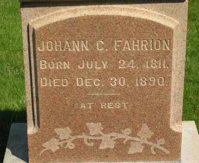 FAHRION, JOHANN C. - Medina County, Ohio | JOHANN C. FAHRION - Ohio Gravestone Photos