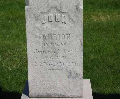 FAHRION, JOHN - Medina County, Ohio | JOHN FAHRION - Ohio Gravestone Photos
