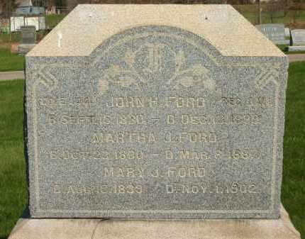 FORD, JOHN H. - Medina County, Ohio   JOHN H. FORD - Ohio Gravestone Photos