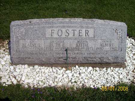 CROW FOSTER, KITTIE - Medina County, Ohio | KITTIE CROW FOSTER - Ohio Gravestone Photos