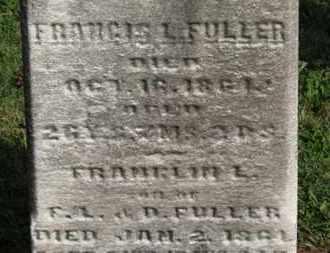 FULLER, FRANCIS L. - Medina County, Ohio | FRANCIS L. FULLER - Ohio Gravestone Photos