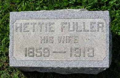 FULLER, HETTIE - Medina County, Ohio | HETTIE FULLER - Ohio Gravestone Photos