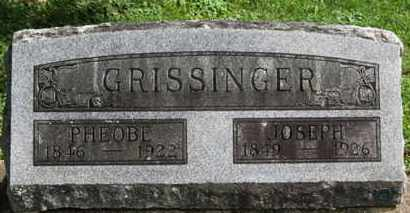 GRISSINGER, JOSEPH - Medina County, Ohio | JOSEPH GRISSINGER - Ohio Gravestone Photos
