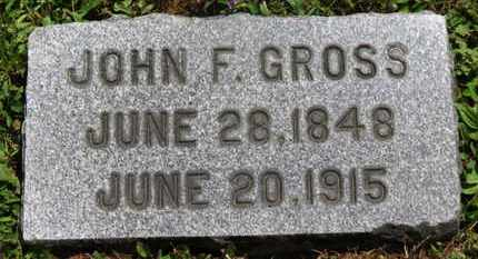 GROSS, JOHN F. - Medina County, Ohio | JOHN F. GROSS - Ohio Gravestone Photos