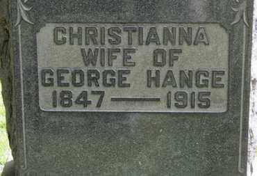 HANGE, GEORGE - Medina County, Ohio | GEORGE HANGE - Ohio Gravestone Photos