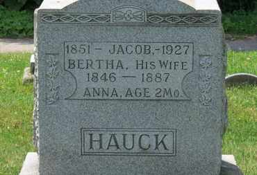 HAUCK, BERTHA - Medina County, Ohio | BERTHA HAUCK - Ohio Gravestone Photos