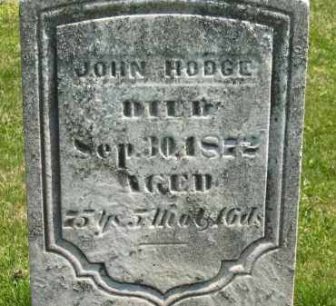 HODGE, JOHN - Medina County, Ohio | JOHN HODGE - Ohio Gravestone Photos