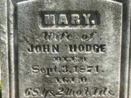 HODGE, MARY - Medina County, Ohio | MARY HODGE - Ohio Gravestone Photos
